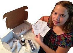 Quick-pix insect colletion kit opened.
