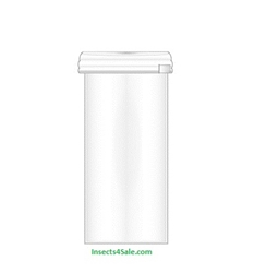 3 Dram Plastic Vial (Snap on lid)